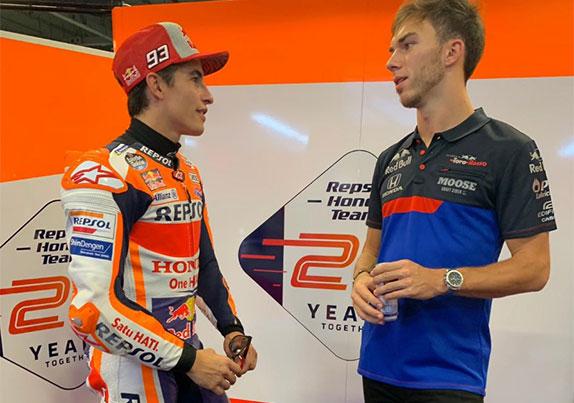 Шестикратный чемпион MotoGP Марк Маркес и Пьер Гасли