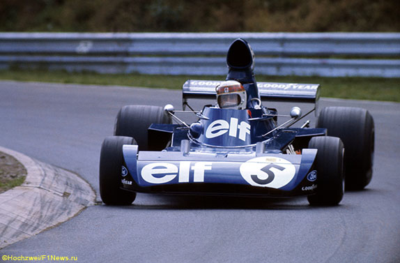 Джеки Стюарт на Нюрбургринге за рулём Tyrrell-Ford 006, 1973 год