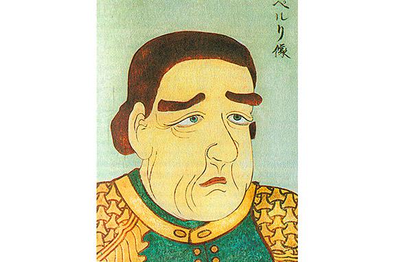 Коммодор Пэрри на картине японского художника