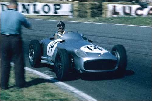 Mercedes-Benz W196. Карл Клинг, третье место на Гран При Великобритании'55