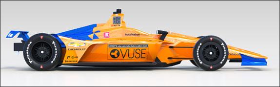 В McLaren представили раскраску машины для Indy 500