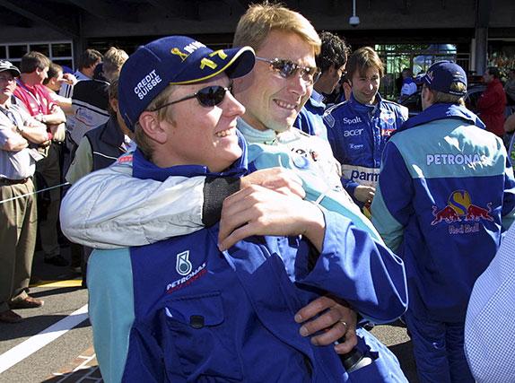 Мика Хаккинен и Кими Райкконен, Гран При США 2001 года