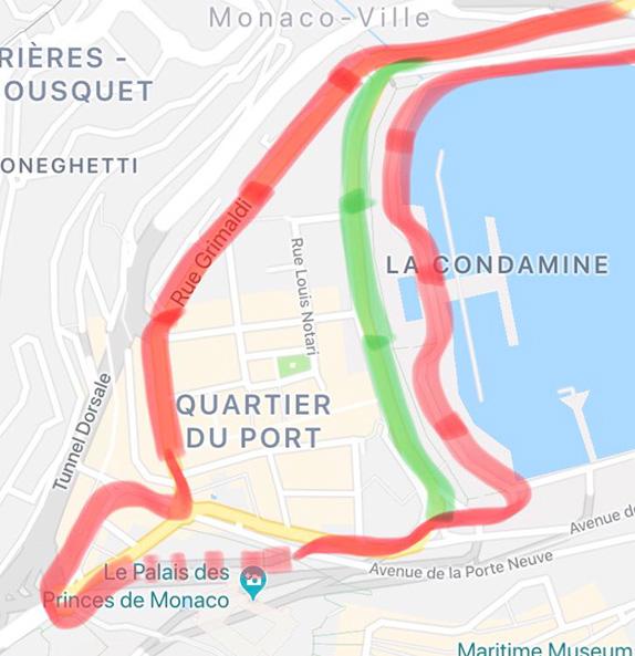 Вариант конфигурации трассы в Монако от Уилла Бакстона