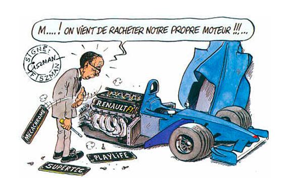 """Карикатура 2000 года: """"М ! Похоже, мы только что купили свой собственный мотор!!! """""""