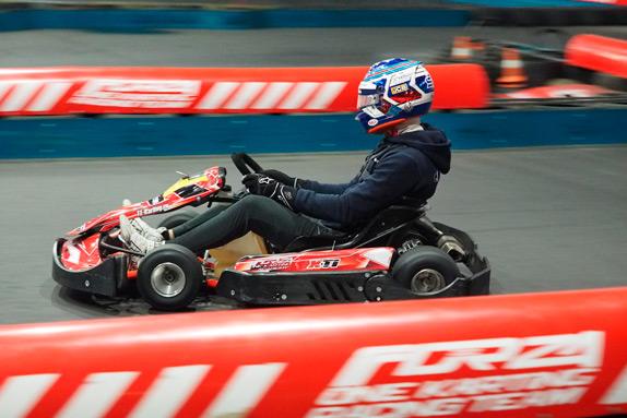 Сергей Сироткин на трассе Forza One Karting
