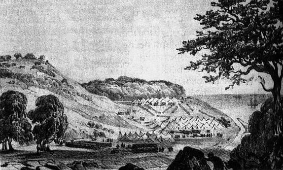 Высадка десанта Симборского в устье реки Сочи 13 апреля 1838 года