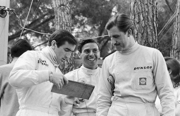 Джеки Стюарт, Джим Кларк и Грэм Хилл,1966 год