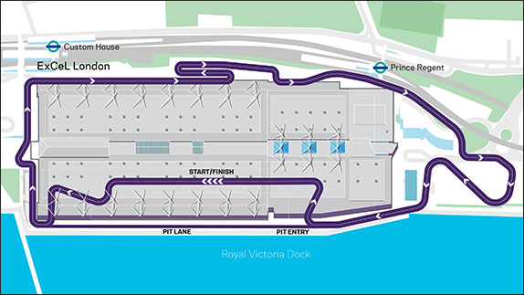 Схема будущей трассы британского этапа Формулы E