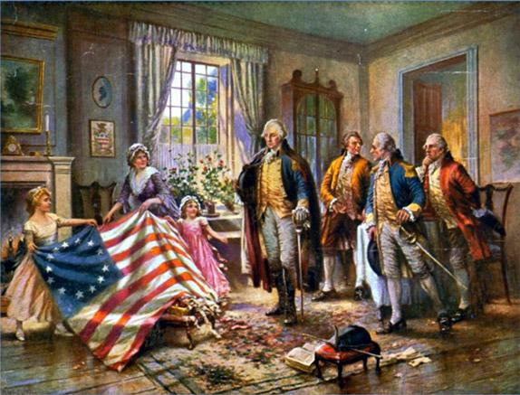 По легенде, первый флаг США сшила швея Бетси Росс, и внесла в его первоначальный дизайн небольшие изменения