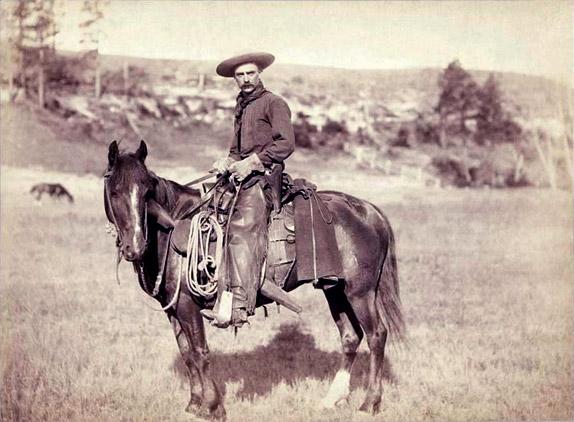 Американский ковбой, снимок 1887 года