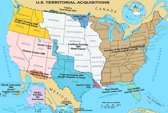 История присоединения территорий к США