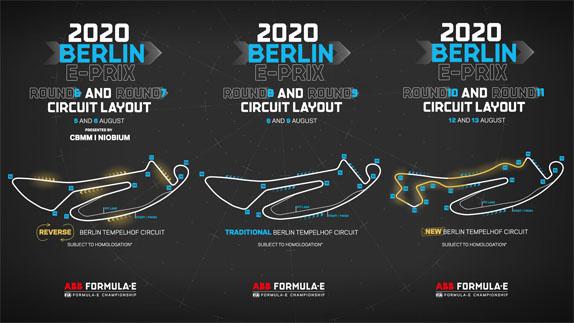 Конфигурация трасс Формулы Е в Берлине