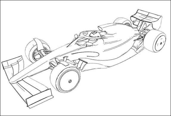 Эскиз внешнего вида машины 2021 года. FIA
