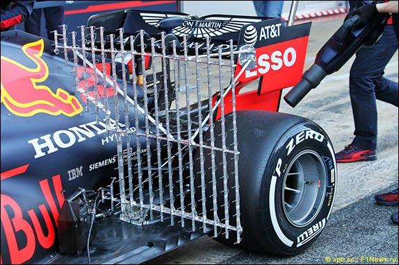 Аэродинамические датчики на машине Red Bull Racing