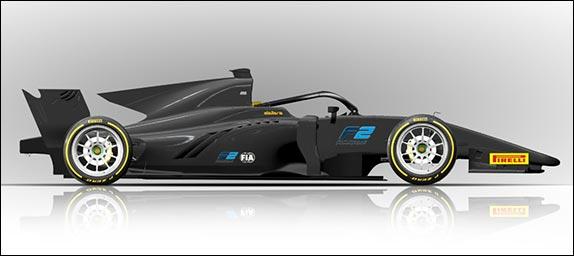 Машина Формулы 2 с 18-дюймовыми шинами