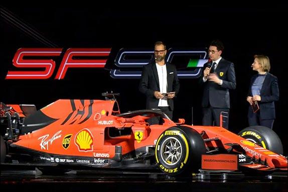Маттиа Бинотто на презентации Ferrari SF90