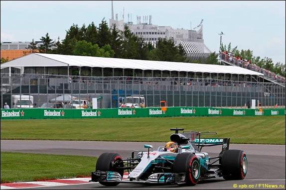 Хэмилтон одержал победу квалификацию Гран-при Канады «Формулы-1»
