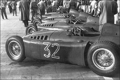 Заводская команда Lancia на Гран При Монако 1955 года