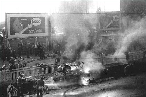 """Авария Пьера Левега в гонке """"24 часа Ле-Мана"""" 1955 года"""