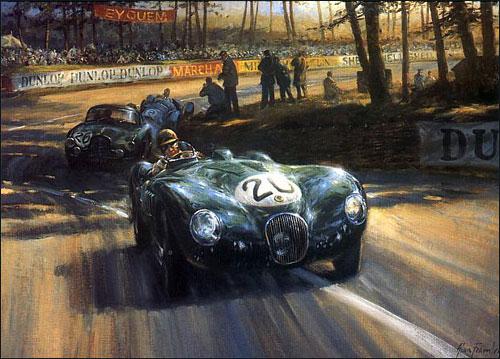 """Питер Уайтхед ведет Jaguar к победе в """"24 часах Ле-Мана"""" 1951 года"""