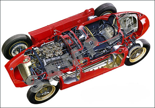 Конструкция Lancia D50