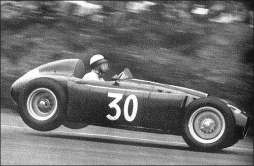 Эудженио Кастеллотти на последней гонке Scuderia Lancia - Гран При Бельгии 1955 года