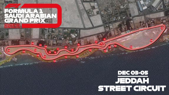 Схема трассы в Джидде