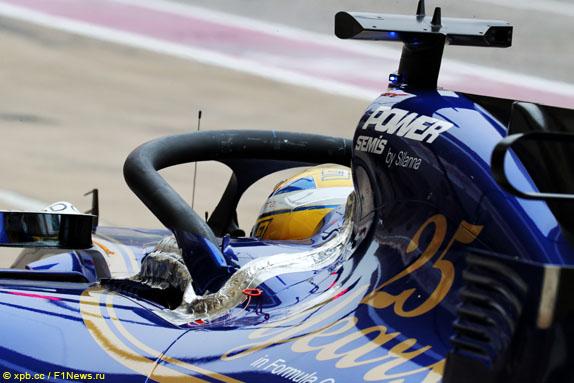Halo на Sauber Маркуса Эриксона