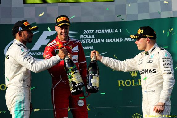 Подиум Гран При Австралии
