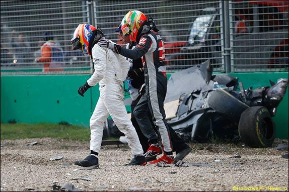 Последствия аварии Алонсо и Гутьерреса в Мельбурне