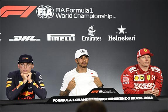 Press conference after the race