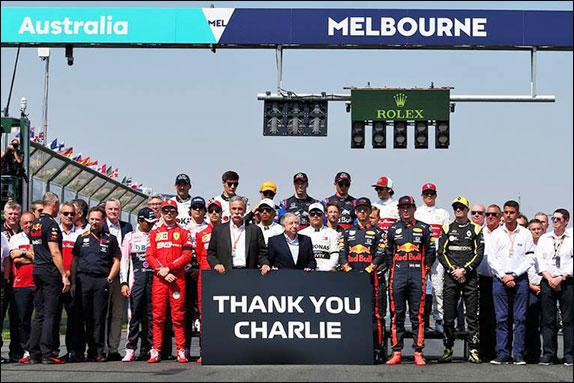 Перед стартом прошла минута молчания в память о директоре гонок FIA Чарли Уайтинге