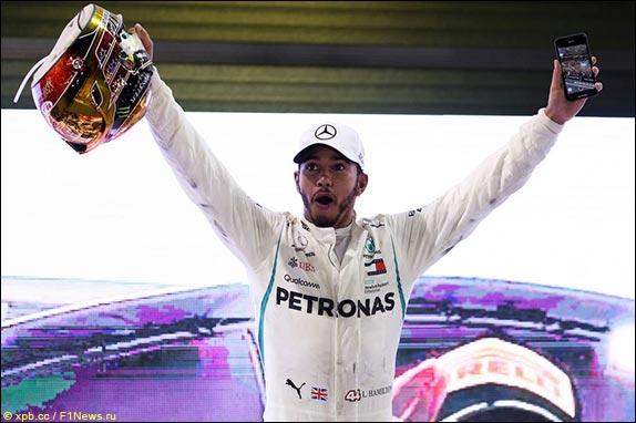 Льюис Хэмилтон выиграл Гран При Абу-Даби, одержав 11-ю победу в сезоне и 73-ю в карьере