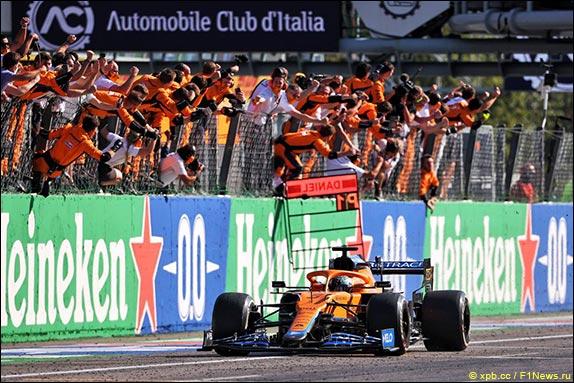 Даниэль Риккардо выиграл Гран При Италии, одержав восьмую победу в карьере