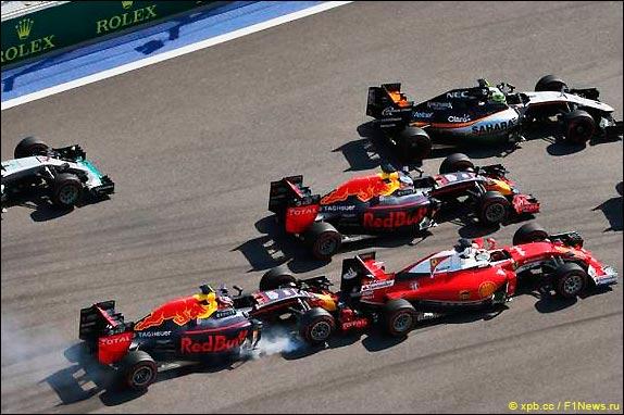 Инцидент на старте Гран При России