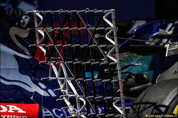 Матрица датчиков давления на Toro Rosso