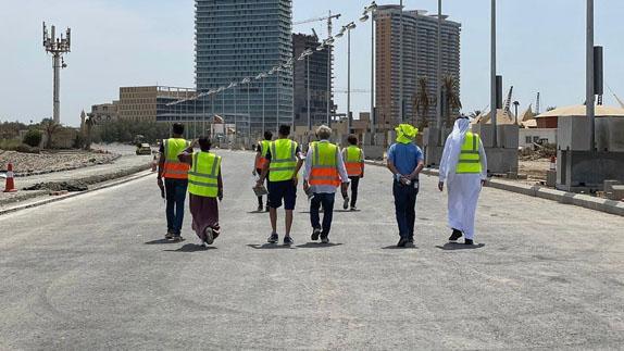Инспекция трассы в Джидде. Фото: пресс-служба Гран При Саудовской Аравии