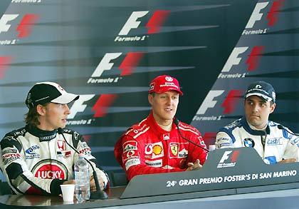 Пресс-конференция после гонки