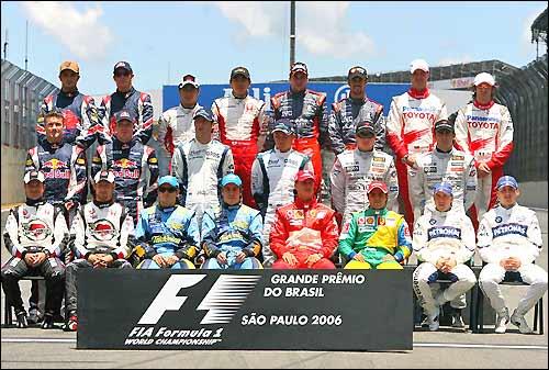 Гонщики перед стартом финальной гонки сезона