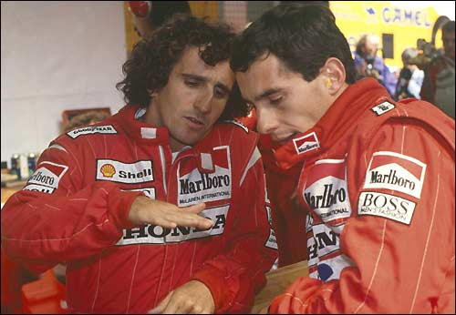 Ален Прост и Айртон Сенна. 1988. McLaren