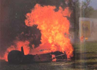 Пожар на машине Бергера