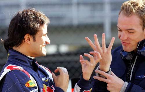 Лиуцци и Дорнбос. Тесты Red Bull в Барселоне