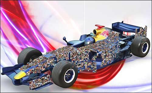 Уникальная раскраска Red Bull