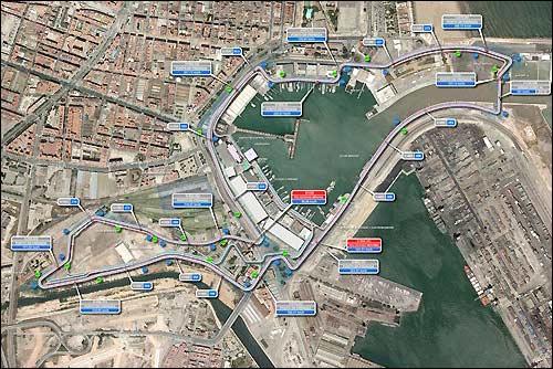 План уличной трассы в Валенсии