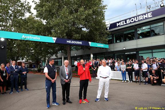 Пресс-конференция, посвященная отмене Гран При Австралии