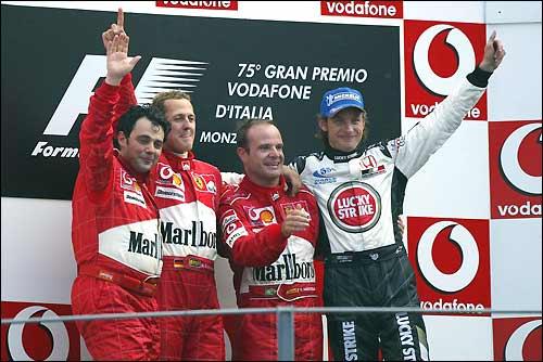 Подиум Гран При италии'04