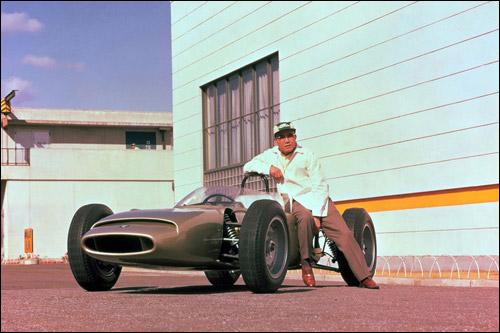 Соичиро Хонда и Honda RA270, 1963 год