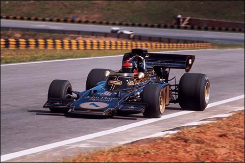 Эмерсон Фиттипальди на Гран При Бразилии 1973 года