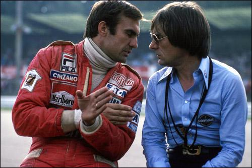 Карлос Ройтеман и владелец команды Brabham Берни Экклстоун, 1978 год
