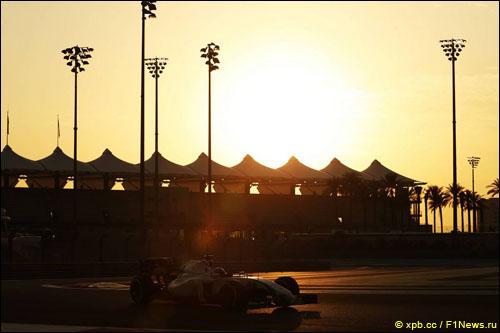 Валттери Боттас на тестах в Абу-Даби